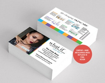 Rodan and Fields Business Cards, R and F Cards, RF, Rodan Business Card, Unmeasured, Marketing, Branding, Printable, Digital