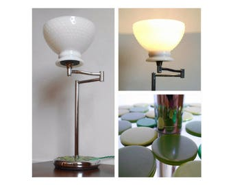 Adjustable Chrome Table Lamp