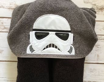 Galaxy Trooper Hooded Towel - Perfect for Pool, Beach or Bath Time - Great Birthday Gift