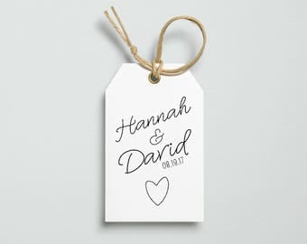 Classic Wedding Favour Tags