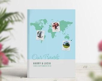Honeymoon Trip Book, Travel Journey Photobook, Adventure Journal, Travel Memories, Photo Album, Wedding Anniversary Gift Personalised Custom