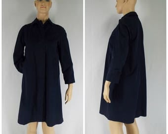 Vintage Womens Navy Blue London Fog Trench Coat | Size M