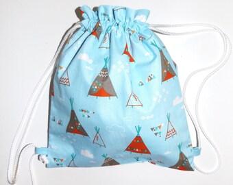 Snack bag child / blue backpack
