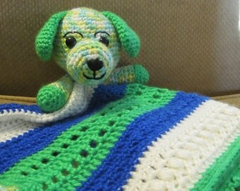 Handmade, Crocheted Puppy Dog Lovey