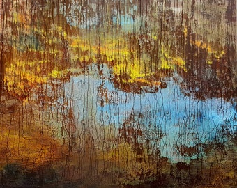 """Original hand painted oil painting-Abstract - made by Sarmite Alksne size 40""""x50"""""""