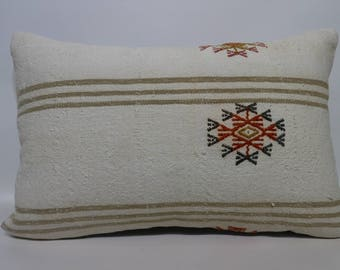 16x24 White Kilim Pillow 16x24  Large Size Kilim Pillow Decorative Pillow  Pillow Anatolian Pillow Home Decor SP4060-963
