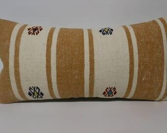 Bohemian Striped Kilim Pillow Fllor Pillow Ethnic Pillow 12x24 Decorative Kilim Pillow Sofa Pillow Cushion CoverSP3060-1519