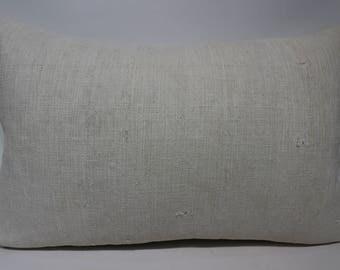 Handwoven Kilim Pillow Throw Pillow 16x24 Lumba Kilim Pillow Ethnic Pillow Decorative Kilim Pillow White Cushion Cover SP4060-1191