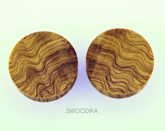 Plugs Olivewood 32 mm-Olive wood dilator plugs