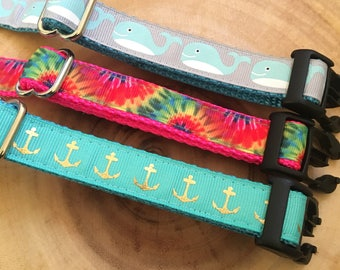 Small Dog Collars | Printed Dog Collars | Festive Dog Collars | Hand Sewn Dog Collars | Sew Fetch Dog Collars | Designer Dog Collars | Nauti