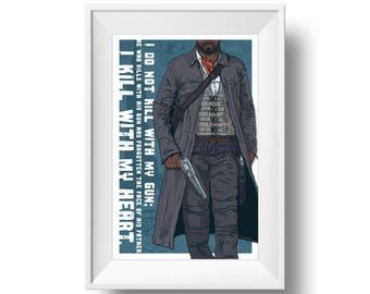 The Dark Tower - The Gunslinger - Art Print - Wall Art - Free Shipping