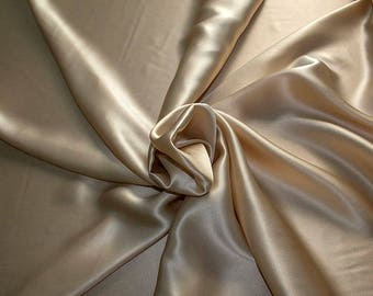 1712-007 - Crepe Satin silk 100%, width 135/140 cm, made in Italy, dry cleaning, weight 100 gr