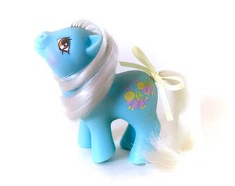 G1 My Little Pony Baby Stripes Blue Bumblebee Pretty Pal Friends Nectar Babies Ponies Original 80s Retro Fairy Kei Kawaii Rare European HTF
