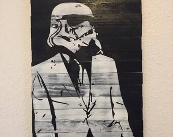 Handmade Star Wars Stormtrooper Wood Wall Art