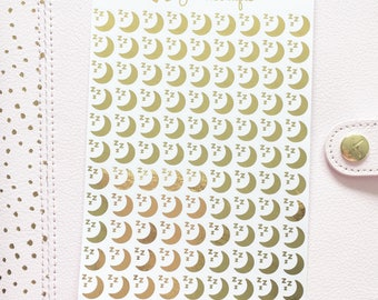 Foil Moon & Sleep Stickers | Planner Stickers
