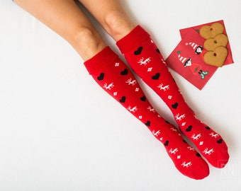 Valentine's Warm Socks / Gifts for her/ Bridesmaid gift Cute present Stockings Holiday Socks present