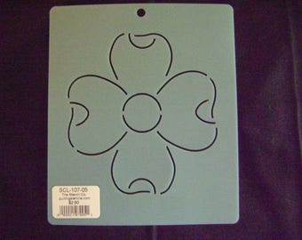 Sashiko Japanese Embroidery Stencil 5 in. Dogwood Motif Block/Quilting