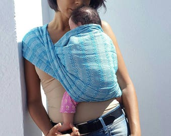 Baby carrier wrap multipurpose mexican rebozo sling  w/ user's guide