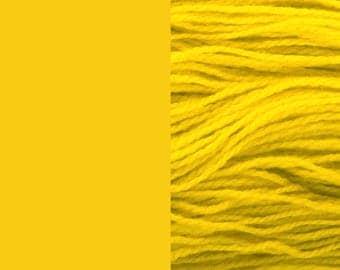 Wool yarn, yellow | bulky, 2 ply worsted quick knit pure wool knitting yarn 100g/130m