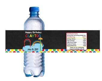 Splash Pad Park Water Bottle Labels Printable Digital DIY