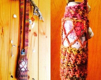 Crochet Mesh Drink Bottle Holder