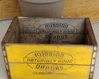 Vintage Mission Naturally Good Orange crate