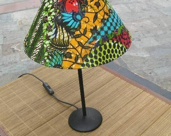 Small lamp with wax Patchwork