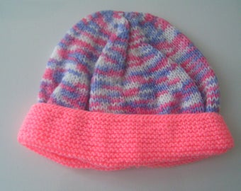 Knit newborn baby Hat / 1 month