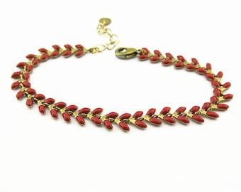 Fancy (red) BCFA10001 bracelet
