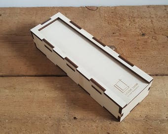 branded wooden boxes