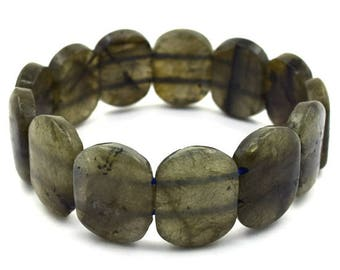 "22mm labradorite stretch bracelet 8"" 36863"