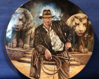 Indiana Jones and The Last Crusade Collector's Plate - Delphi - Pre-owned