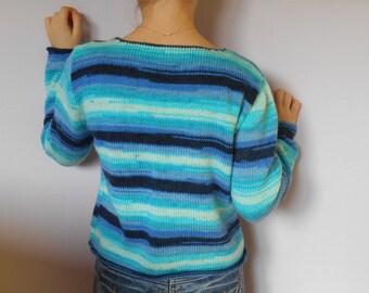 Wool Sweater majority, all blue.