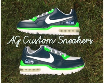 separation shoes 351f3 1c5ee ... new style air max 90 dallas cowboys edition custom seattle seahawks air  max 90 sneaker 30a7c