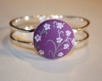 "Bracelet ""Laurette"" flower of the purple Japan"