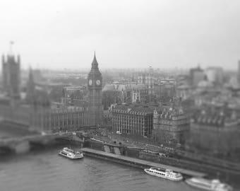 London Westminster Photography,  London Fine Art Print, London Black and White, London Home Decor, London Big Ben