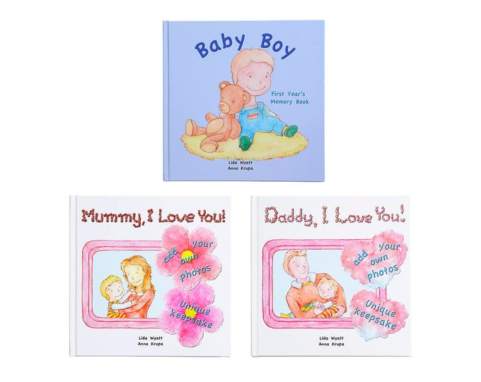Family Bundle - Baby Boy - Choose from 3 Hair/Skin Colour Options