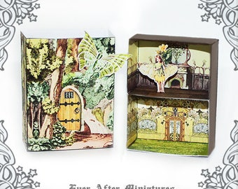 Vintage dollhouse miniature kit 1 diy craft printable for Fairy door kits canada