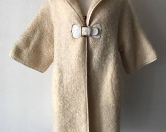 Real warm wool milk jacket size medium .