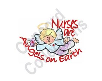 Nurse Angel - Machine Embroidery Design, Nurse, Angel