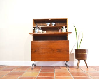Mid Century Danish Modern Bar Cabinet Or Liquor Storage