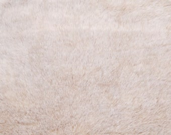 Sand Sable Faux Fur fabric