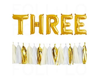 """THREE Letter Balloons 