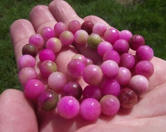 FACETED MULTICOLOR KUNZITE BEADS 4 A. 8 MM.