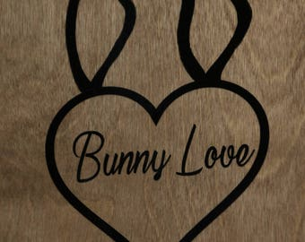 Bunny love decal