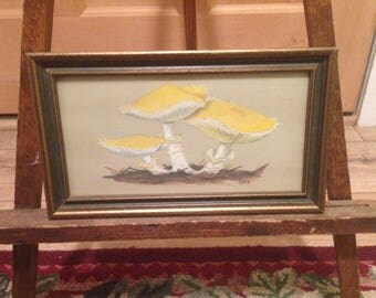 "Armillaria Albolanaripes Watercolor Painting  5.5""x9.5"""