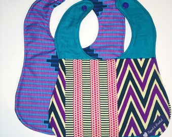 African Print Bibs // Colorful Graphic Print Bibs for Infants and Toddlers