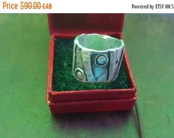 ON SALE Vintage Sterling Silver Modernist Style Ring