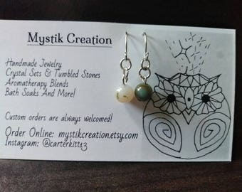 The perfect mismatch/ Indian Agate Earrings