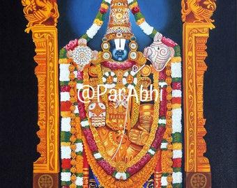 Lord Balaji of Tirupati divine art